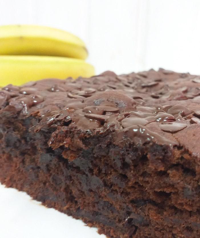 Receta de bizcocho de chocolate y plátano
